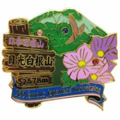 日本百名山 ピンバッジ 2段 ピンズ 日光白根山 (奥白根山)  登山グッズ通販 【メール便可】