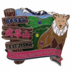 日本百名山 ピンバッジ 2段 ピンズ 武尊山  登山グッズ通販 【メール便可】