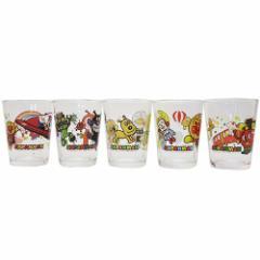 アンパンマン ガラス コップ ミニグラス 5個セット アニメキャラクター グッズ