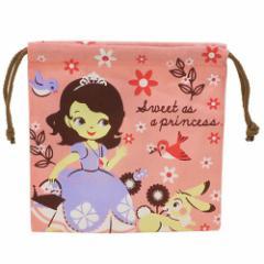 ちいさなプリンセス ソフィア 巾着袋 きんちゃく ポーチ お花ちらし ディズニー キャラクターグッズ通販