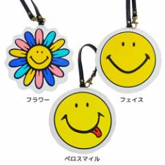 20%OFF SMILEY スマイリーフェイス 定期入れ ダイカット パスケース フェイス キャラクター グッズ SALE 6/4朝10時まで