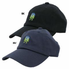 モンスターズインク マイク 帽子 刺繍 ベースボール キャップ ブラック ネイビー ディズニー キャラクターグッズ通販