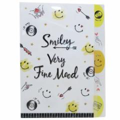 SMILEY スマイリーフェイス ファイル ダイカット 5インデックス A4クリアファイル ちらし  キャラクターグッズ通販