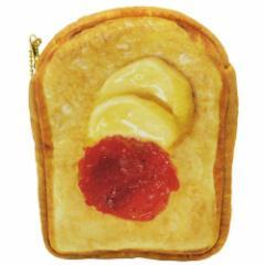 ジャムバター トースト フラットポーチ まるでパンみたいな マルチポーチ 2nd  おもしろ雑貨グッズ通販 【メール便可】