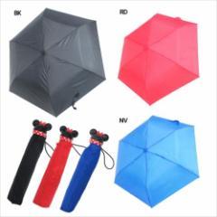 ミニーマウス 折畳傘 アイコンハンド 折りたたみ スリム傘 ドット ディズニー キャラクター グッズ