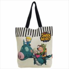 スナックワールド トートバッグ キャンバスおでかけトート ゲームキャラクター グッズ