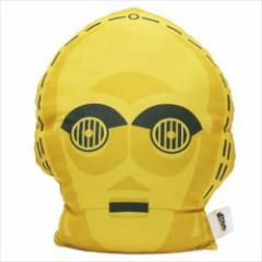 スターウォーズ クッション もちもちフェイスクッション C-3PO ドロイド STAR WARS キャラクターグッズ通販