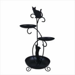 【取寄品】 ディアキャッツ アクセサリー収納 アクセサリースタンド 黒猫  インテリアグッズ通販