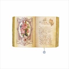 【取寄品】 壁掛けオルゴール ブック型プーリーオルゴール ローズ 美女と野獣  アンティーク風グッズ通販