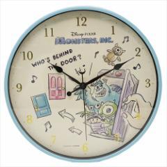 モンスターズインク 壁掛け 時計 インデックス ウォール クロック イラストタッチ ディズニー キャラクター グッズ