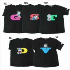 KRUNK × BIGBANG Tシャツ ビッグT-SHIRTS FXXK IT ビッグバン キャラクターグッズ メール便可