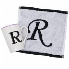 アルファベット マグカップ イニシャル マグ&タオル ギフトセット R 誕生日プレゼント グッズ