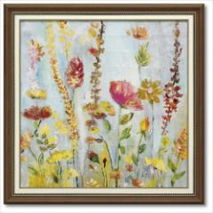 取寄品 送料無料 ローラ・ゴールド フラワーアート Art Frames レインドロップ ガーデン インテリア