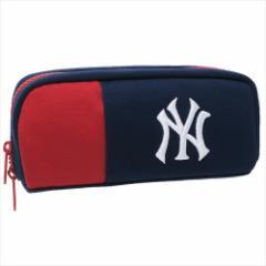 ニューヨークヤンキース ペンポーチ ペン挿し付き ポケット ペンケース トリコロール MLB キャラクターグッズ通販