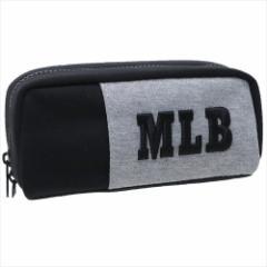 メジャーリーグ ペンポーチ ペン挿し付き ポケット ペンケース グレー MLB キャラクターグッズ通販