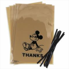 ミッキーマウス ラッピング 用品 ギフト袋 & ワイヤータイ 8セット サンクス ディズニー キャラクターグッズ メール便可