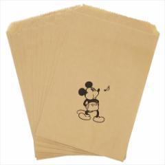 ミッキーマウス 紙袋 フラットペーパーバッグ 10枚 セット ホイッスル ディズニー キャラクターグッズ メール便可