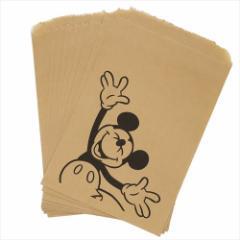 ミッキーマウス 紙袋 フラットペーパーバッグ 10枚 セット ラフ ディズニー キャラクターグッズ メール便可