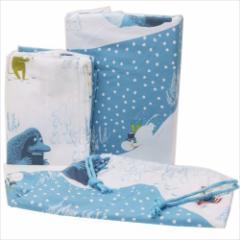 【送料無料】ムーミン カバーリング 寝具3点セット レミレイッキ ブルー 北欧 キャラクターグッズ通販