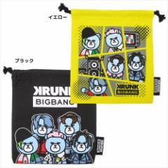 KRUNK × BIGBANG 巾着袋 きんちゃく ポーチ FXXK IT ビッグバン キャラクターグッズ メール便可