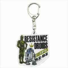 スターウォーズ キーリング アクリルキーホルダー C-3PO&R2-D2 STAR WARS キャラクターグッズ通販 【メール便可】