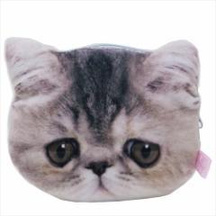 もっちりある猫 ミニポーチ もちもちフェイスポーチ エキゾチックショートヘア ねこ キャラクターグッズ通販