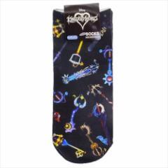 キングダムハーツ 女性用靴下 レディースプリントソックス キーブレード ディズニー キャラクターグッズ通販 【メール便可】
