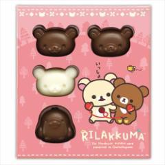 リラックマ お菓子 チョコレート フェイスチョコ6個セット バレンタイン サンエックス キャラクターグッズ通販