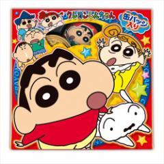 クレヨンしんちゃん お菓子 チョコレート 缶バッジ&コインギフトセット バレンタイン  キャラクターグッズ通販