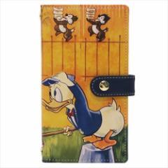 【送料無料】ドナルドダック2 スマホ本革マルチケース スマートフォン汎用手帳型カバー クラシックポスター ディズニー キャラクター