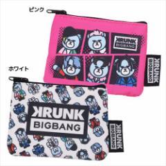 KRUNK × BIGBANG 平ポーチ フラットポーチS FXXK IT ビッグバン キャラクターグッズ メール便可