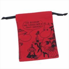 ムーミン 巾着袋 パレットきんちゃく 木の実おいしいRD 北欧 キャラクターグッズ通販 【メール便可】