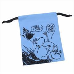 ムーミン 巾着袋 パレットきんちゃく すべるBL 北欧 キャラクターグッズ通販 【メール便可】