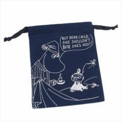 ムーミン 巾着袋 パレットきんちゃく ベッドの上NV 北欧 キャラクターグッズ通販 【メール便可】