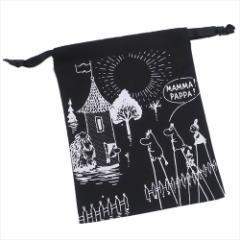 ムーミン 巾着袋 パレットきんちゃく 竹馬に乗ってBK 北欧 キャラクターグッズ通販 【メール便可】