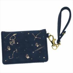 スヌーピー 定期入れ 二つ折りパスケース Starry Sky 流れ星 ピーナッツ キャラクターグッズ メール便可