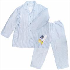 送料無料 メンズXLサイズ 紳士用 パジャマ マシュマロガーゼパジャマ ストライプ ダークブルー ホームウェア グッズ