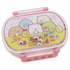 すみっコぐらし お弁当箱 小判型タイトランチボックス おべんとうピンク サンエックス キャラクターグッズ通販