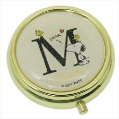 スヌーピー アクセサリー収納ケース ミラー付き小物ケース アルファベット M ピーナッツ キャラクターグッズ通販 メール便可
