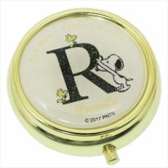 スヌーピー アクセサリー収納ケース ミラー付き小物ケース アルファベット R ピーナッツ キャラクターグッズ通販 メール便可
