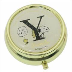スヌーピー アクセサリー収納ケース ミラー付き小物ケース アルファベット Y ピーナッツ キャラクターグッズ通販 メール便可