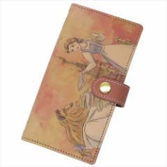 送料無料 美女と野獣 本革アイフォン8 7カバー レザー製手帳型iPhone8 7ケース Vrai amour collection ディズニープリンセス