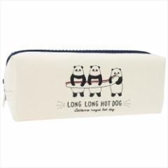 LONG LONG HOT DOG ペンポーチ ツインファスナーペンケース 2018SS  女の子向けグッズ通販
