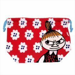 ムーミン ランチ巾着袋 マチ付ききんちゃく リトルミイとお花 北欧 キャラクターグッズ通販 メール便可