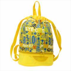 ミニオンズ プールバッグ 底部ファスナーポケット付き2層式ポンサック 2018SS ユニバーサル映画 キャラクターグッズ通販