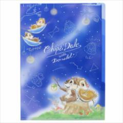チップ&デール ファイル 5インデックスA4クリアファイル 夜空 ディズニー キャラクターグッズ通販