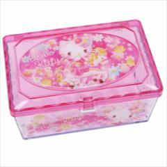 ハローキティ 卓上収納 キラキラフリーケース ピンク サンリオ キャラクターグッズ通販