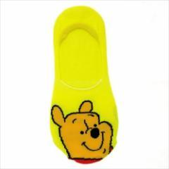 くまのプーさん 女性用靴下 レディースフットカバー フェイス ディズニー キャラクターグッズ通販 メール便可