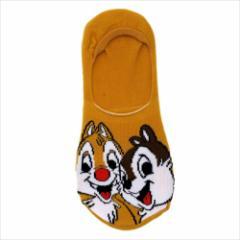 チップ&デール 女性用靴下 レディースフットカバー フェイス ディズニー キャラクターグッズ通販 メール便可