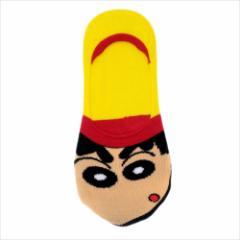 クレヨンしんちゃん 女性用靴下 レディースフットカバー アップ  アニメキャラクターグッズ通販 メール便可
